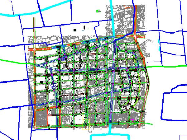市政道路工程施工设计图纸(共28张,含工程说明文档)