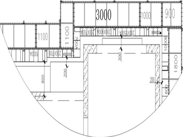 郑州棚改项目附着式升降脚手架施工方案-安装底部内挑板及翻板