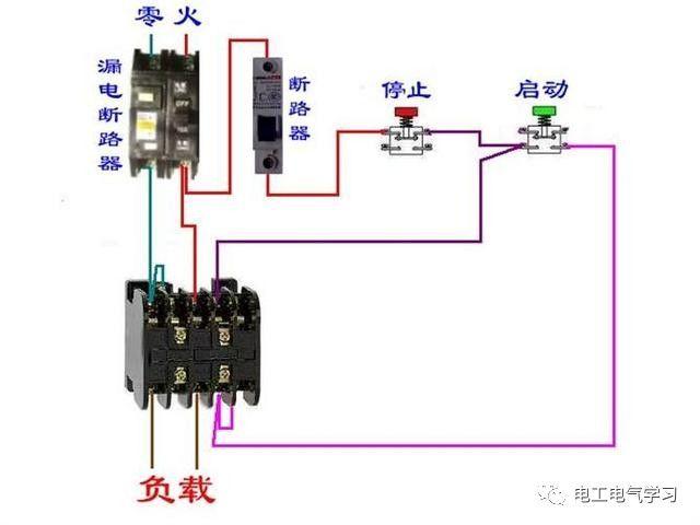 【电工必备】开关照明电机断路器接线图大全非常值得收藏!_48