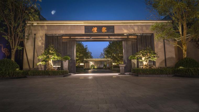 北京鲁能钓鱼台美高梅别墅景观-17