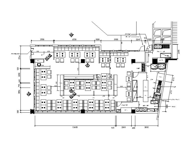 [江苏]全套现代风格火锅餐店设计施工图