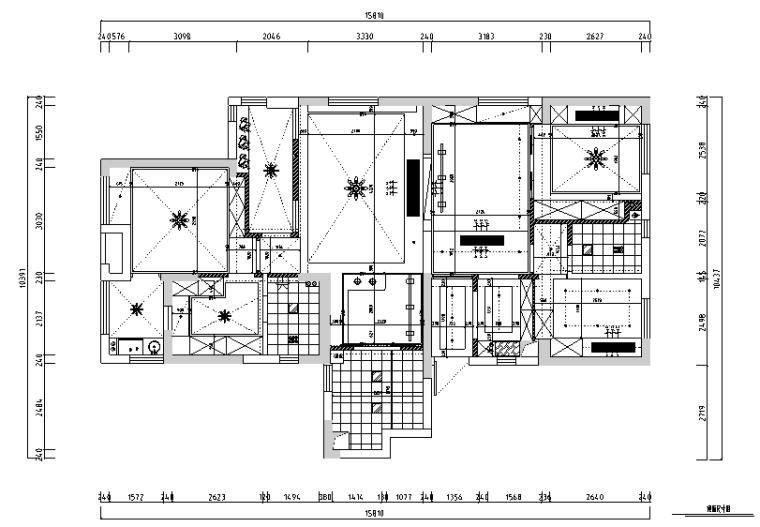 【湖北】现代偏港式样板房设计施工图(附效果图)_3