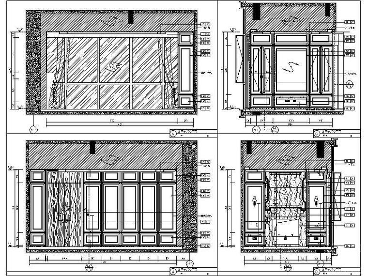 [福利]3套现代简约精致样板间完整设计施工图(含效果图+物料表)_6