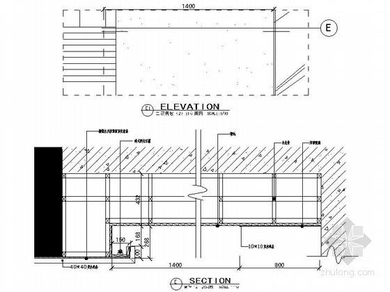 成套灯片、玻璃、镜子墙面造型节点详图CAD图块下载