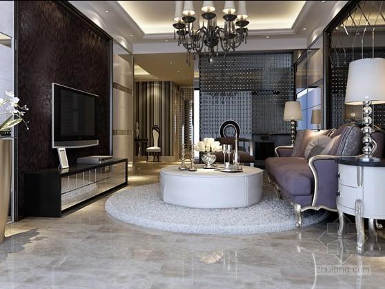 欧式新古典客厅装修资料下载-欧式新古典客厅