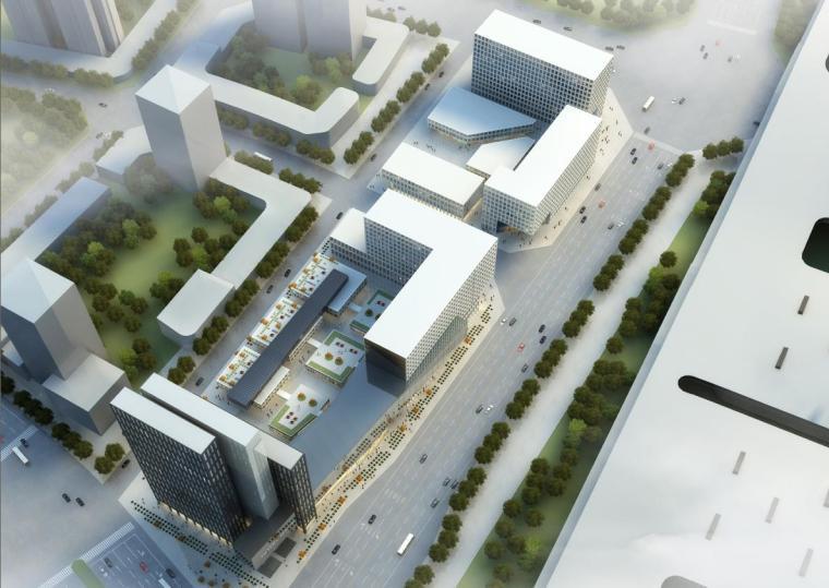[江苏]高层白色体块办公酒店综合体建筑设计方案文本(含CAD)