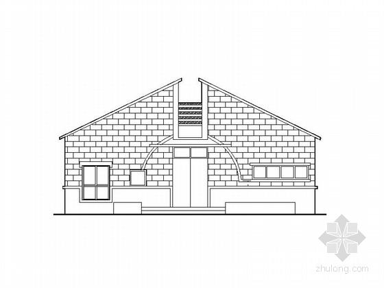 [河南]现代坡屋顶公厕施工图