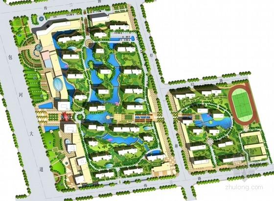 超高层住宅及商业建筑总平面图