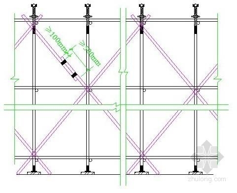 江苏省某学校行政楼模板专项施工方案(高支模)