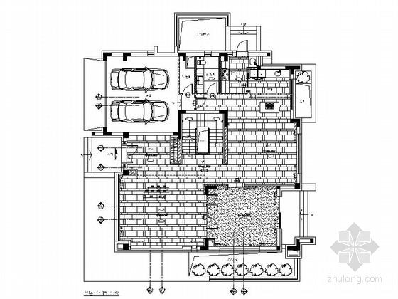 [上海]高档现代风格三层别墅住宅施工图(含实景图)