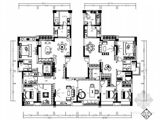 [重庆]知名建筑学院工作室设计简欧豪华家居室内施工图