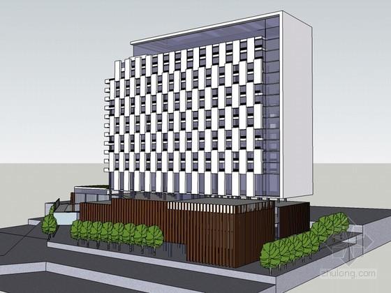 综合办公建筑SketchUp模型下载-综合办公建筑
