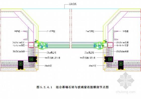 玻璃石材及铝板异面组合幕墙施工工法(附图)