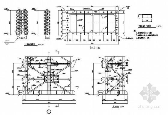 某独立落地式广告牌支架结构设计图