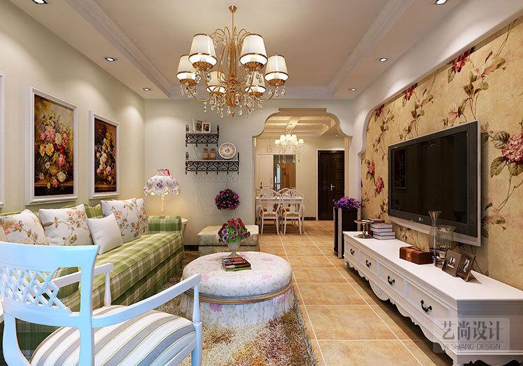 九龙城84平方两室两厅田园风格装修案例-20141228161735