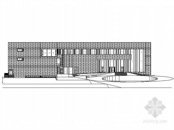 [武当山]玄武湖某国际大酒店三层酒店大堂建筑施工图