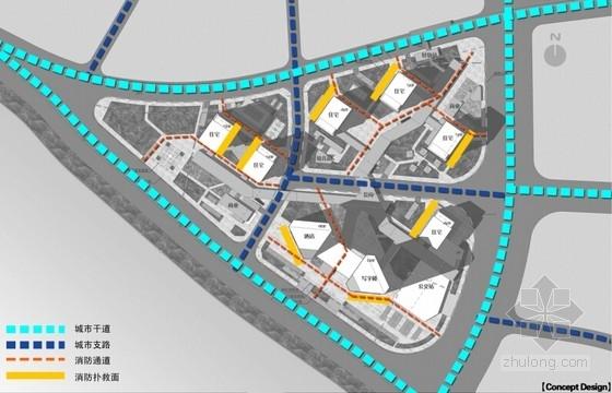 [武汉]开敞式小区景观规划设计方案-道路分析