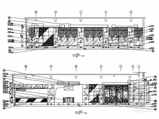 五套优雅豪华西餐厅室内装修图 立面图