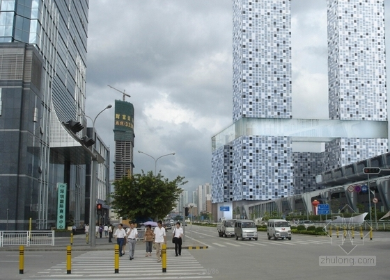 玻璃幕墙超高城市综合体效果图