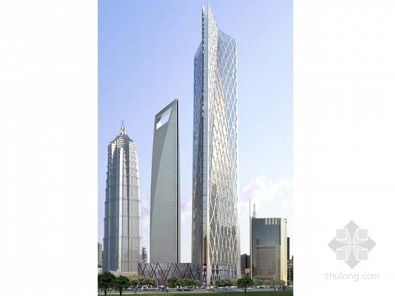 [上海]超高层玻璃幕墙办公塔楼建筑设计方案文本(知名事务所)