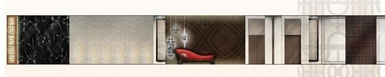 [上海]精品奢华雅致古典风格宾馆室内装饰设计方案-[上海]奢华雅致古典风格宾馆室内装饰设计方案入口立面图