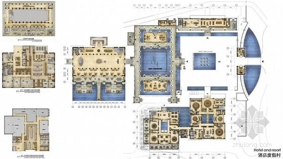[海南]度假区高级海边别墅式酒店室内设计方案