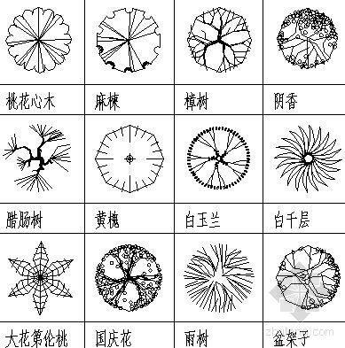 深圳特区植物设计图例