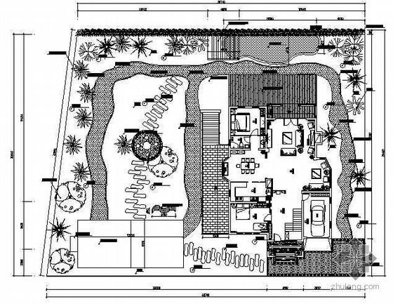 某庭院环境景观设计平面图