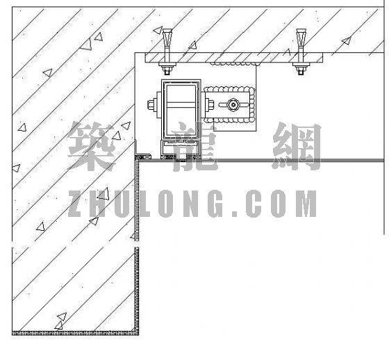 玻璃幕墙及铝合金型材节点图