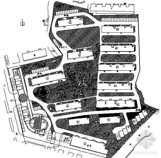 [南通]小区绿化景观设计施工图