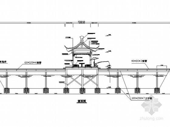 钢结构仿古临水廊架施工做法