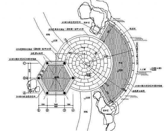 古建六角亭施工图-3
