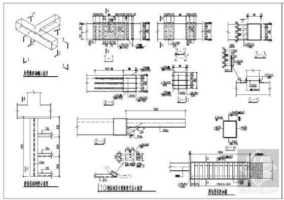 某悬挑梁加固设计节点构造详图