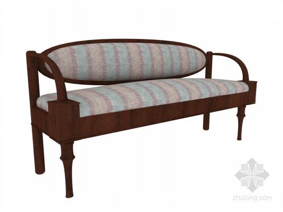 欧式古典沙发3D模型下载