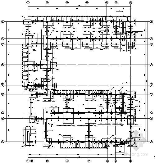 [长沙]某7层框架结构机电实训楼结构设计图(中南院)