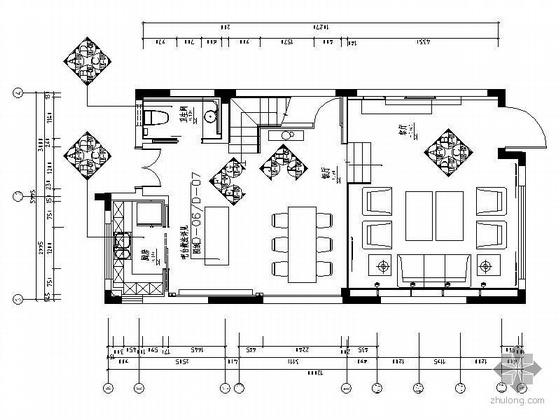 [南京]三层现代极简式别墅样板房装修图