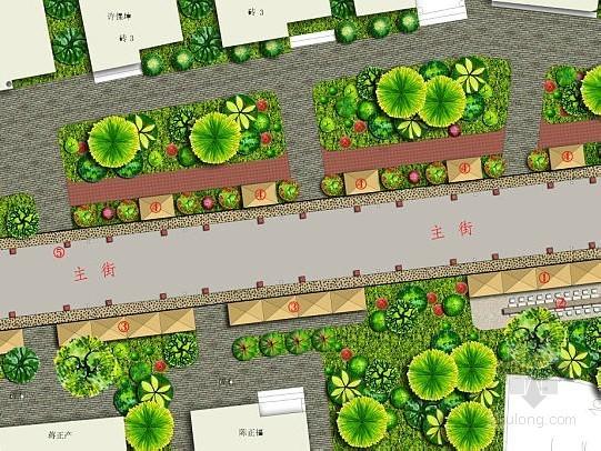 [杭州]某风情小镇主要街道景观设计方案