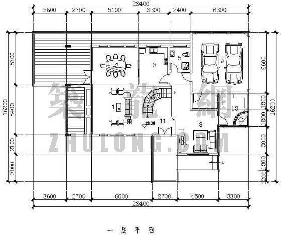 某住宅户型平立面图