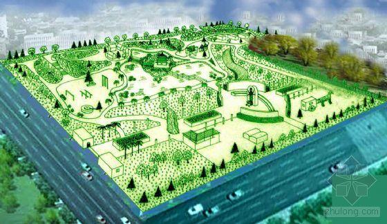 陕西某市农业主题公园景观设计鸟瞰图