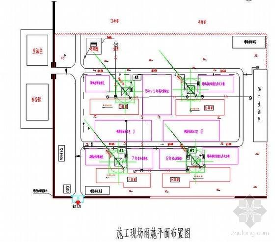 北京某项目雨季施工措施(平面图)