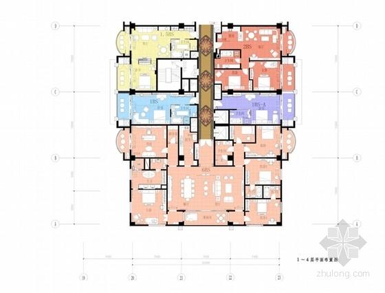 [山东]时尚现代五星级度假酒店室内设计方案