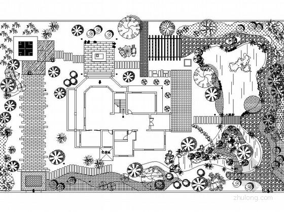 [安徽]独栋别墅庭院园林景观工程施工图