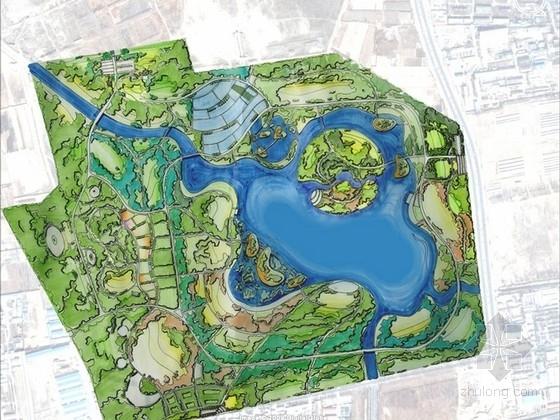 [北京]城市滨河森林公园景观规划设计方案