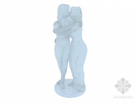 人物雕塑3D模型下载