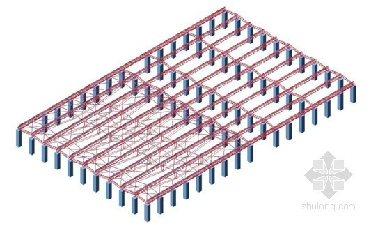 [上海]展览馆钢结构安装施工方案(屋面钢桁架 鲁班奖)