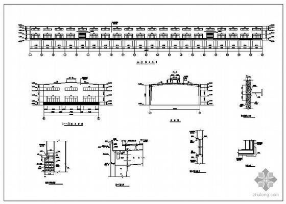 印度某22米单跨单层厂房结构图