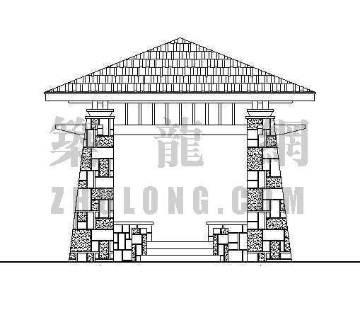 木桥与亭施工大样图-2