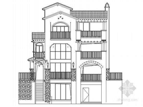 [长沙]某三层托斯卡纳风格别墅建筑施工图