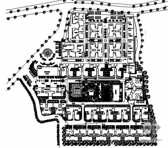 某花园小区环境景观设计方案平面图