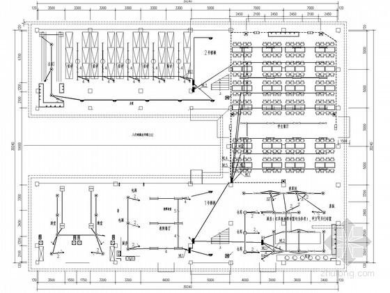 小学三层食堂与宿舍综合楼电气施工图纸